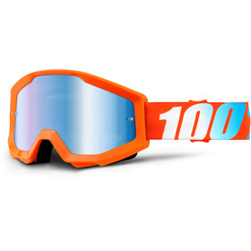 100% Strata Goggles orange-mirror